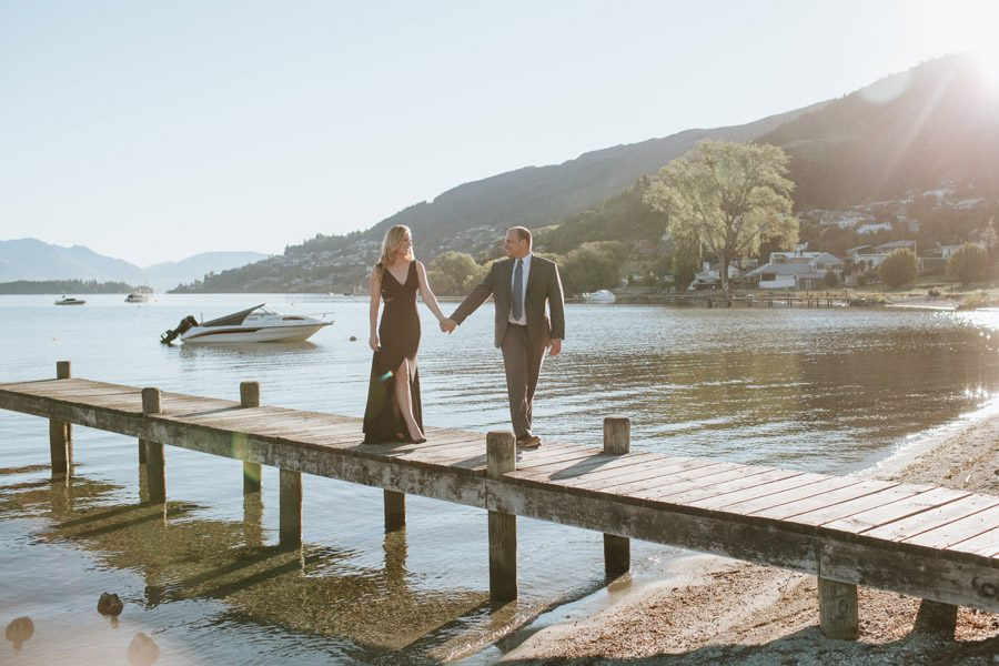 A gorgeous photos from Elizabeth and Vincent's Queenstown Post-Wedding/Engagement Photo Shoot in Queenstown, New Zealand taken by Queenstown Wedding Photographers, Alpine Image Company.