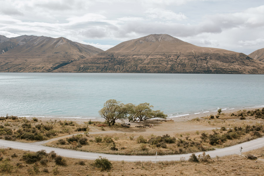 Lake Ohau is a stunning destionation wedding location! Photo by New Zealand destination wedding photographers, Alpine Image Company.