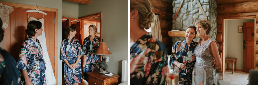 Gorgeous bridal preparation photos from Rebecca and Matt's Lake Ohau wedding captured by Wanaka wedding photographers Alpine Image Company.