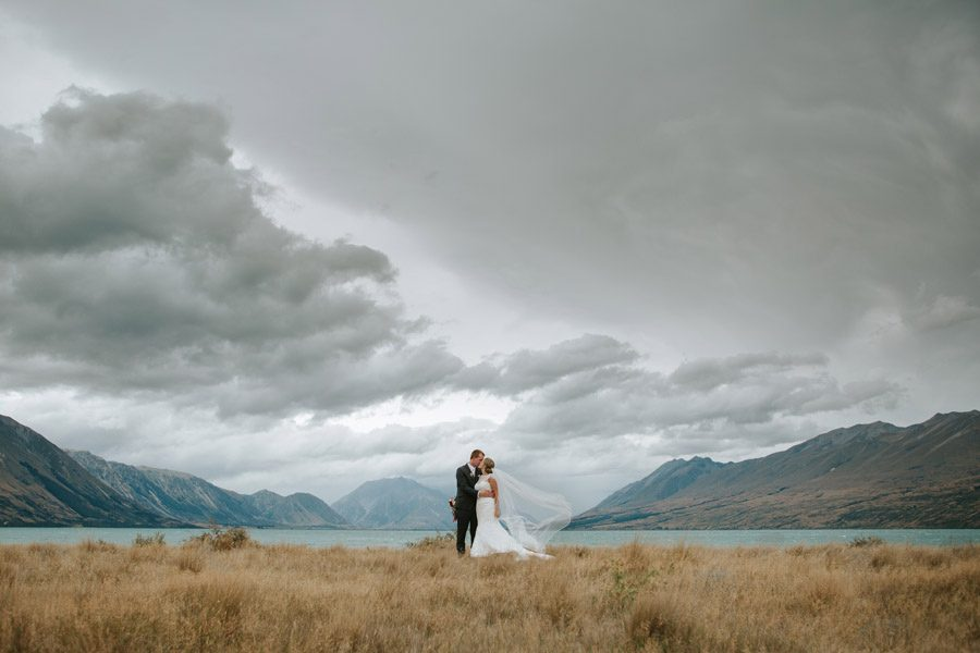 Beautiful wedding photography from Rebbecca and Matt's Lake Ohau destination wedding captured by Wanaka wedding photographers Alpine Image Company.