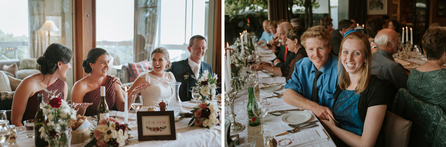 Fun reception shots from this Lake Ohau destination wedding captured by Wanaka wedding photographers Alpine Image Company.