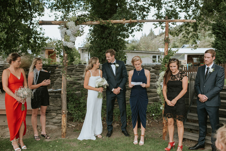 Gorgeous wedding ceremony image by Wanaka wedding photographer Alpine Image Company.