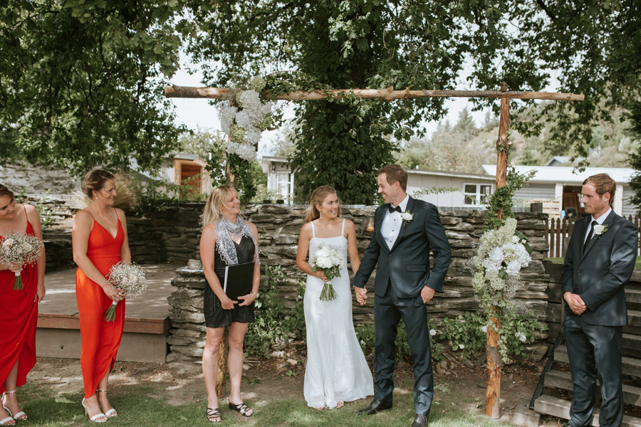 a stunning wedding photo from Kelsey and Matt's wedding at the Luggate Pub, New Zealand captured by Wanaka wedding photographers Alpine Image Company.