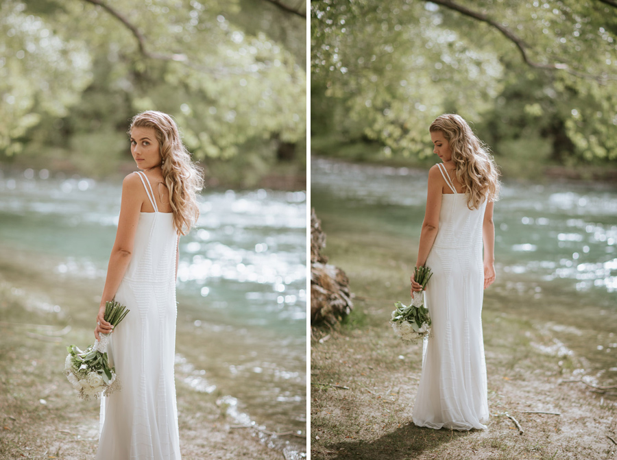 More stunning images of Kelsey on her wedding day in Wanaka, New Zealand. Wanaka wedding photography by Alpine Image Company.