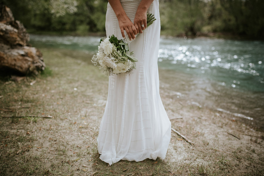 Gorgeous bride details from Kelsey and Matt's Wanaka wedding day photographed by Wanaka wedding photographers Alpine Image Company.