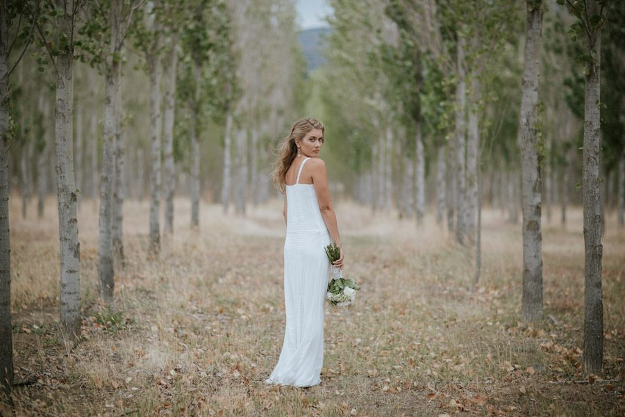 Kelsey looking gorgeous on her wedding day in Wanaka, New Zealand. Wanaka wedding photography by Alpine Image Company.