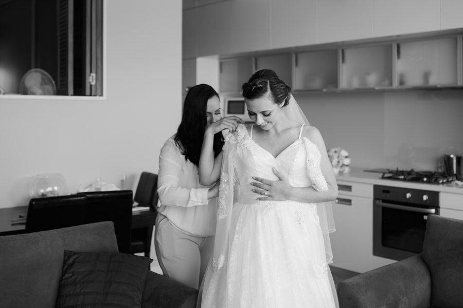 the quiet moments before the ceremony