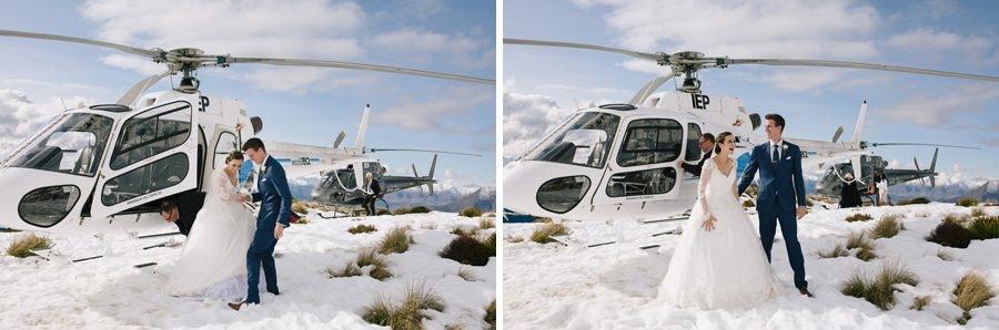 A stunning helicopter wedding