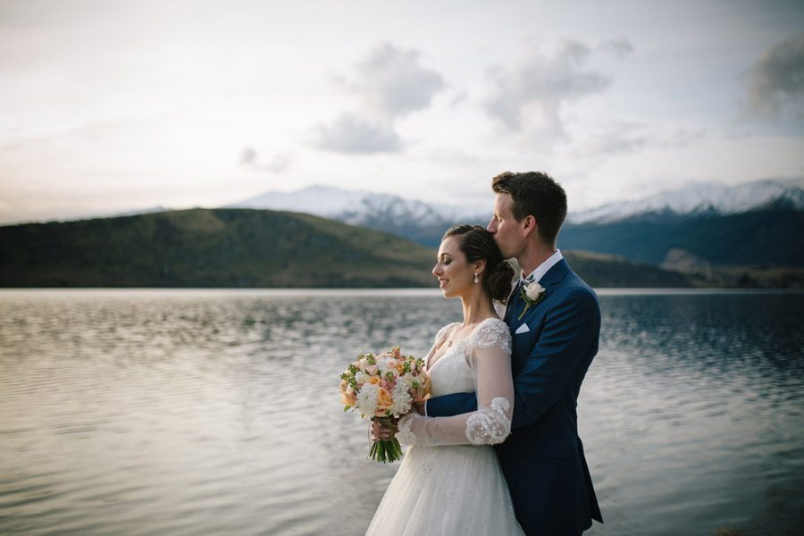 The lovely lake Hayes evening light on your wedding