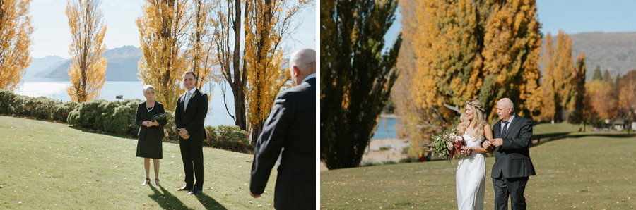 Wedding day moments from Estelle and Stat's grogeous Wanaka autumn wedding by Alpine Image Company.