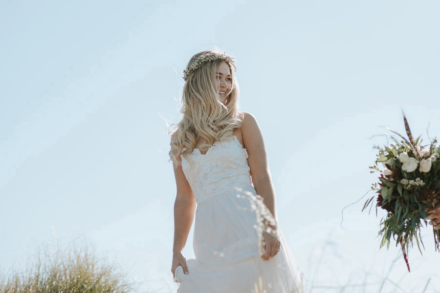 Our beautiful Bride Estelle. Photographed by Wanaka wedding photographers, Alpine Image Company.