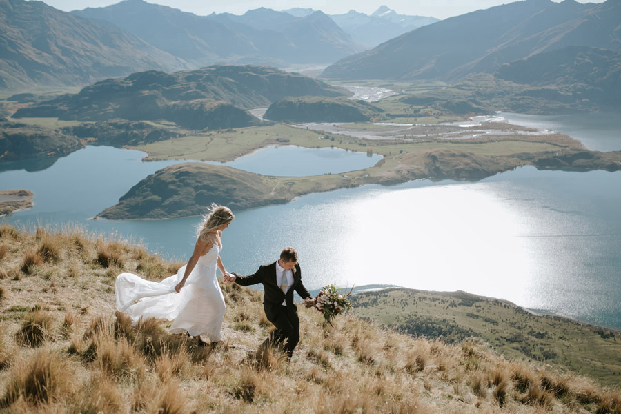 Wanaka put on a sunny and golden day for Estelle and Stas' Wanaka elopement wedding. How lucky!!