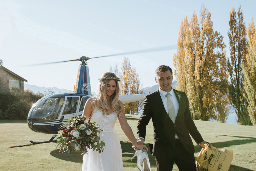 Now time for some post-flight wedding photos with Wanaka wedding photographers Alpine Image Company.