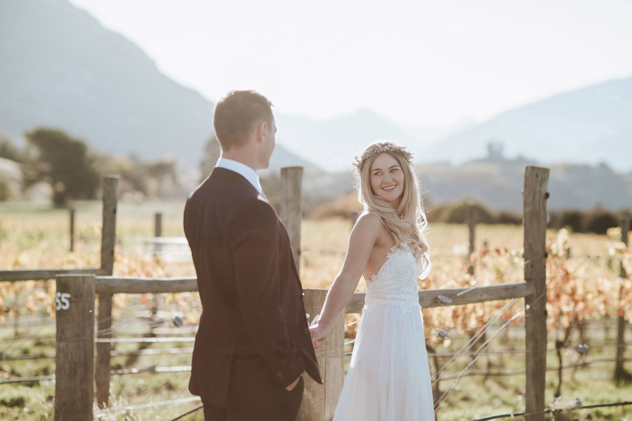 A beautiful photo during golden hour at this Wanaka elopement wedding photographed by Alpine Image Company.