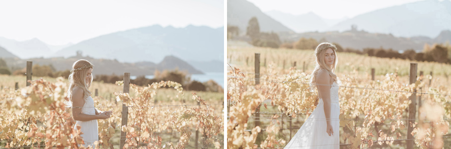 Our beautiful bride, Estelle, looking stunning on her Wanaka wedding day. Photography by Alpine Image Company.