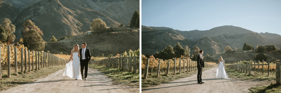 Beautiful wedding location photos in Wanaka on Estelle and Stas elopement wedding day by Alpine Image Company.