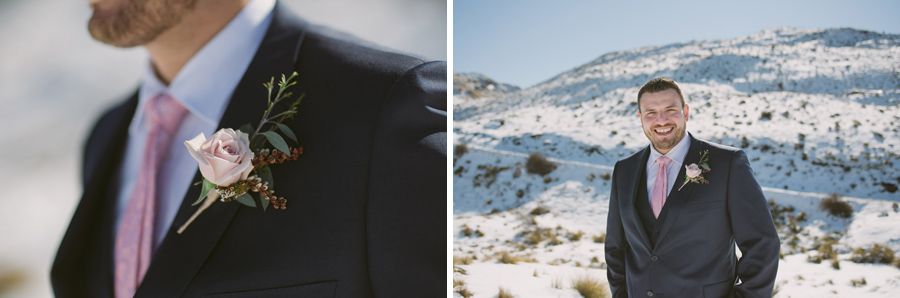 The dapper groom, Bernard, on his Queenstown wedding day by Wanaka wedding photographer Alpine Image Company.