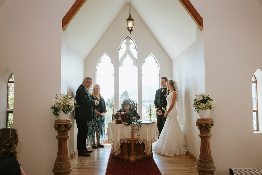 The wedding paperwork at a beautiful stoneridge estate elopement