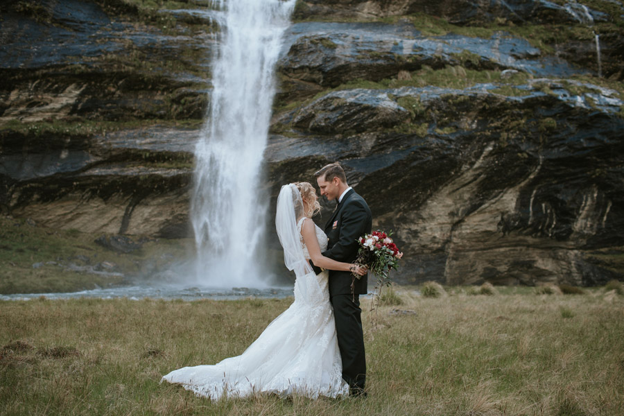 A beautiful bride and groom admist the mountain magic