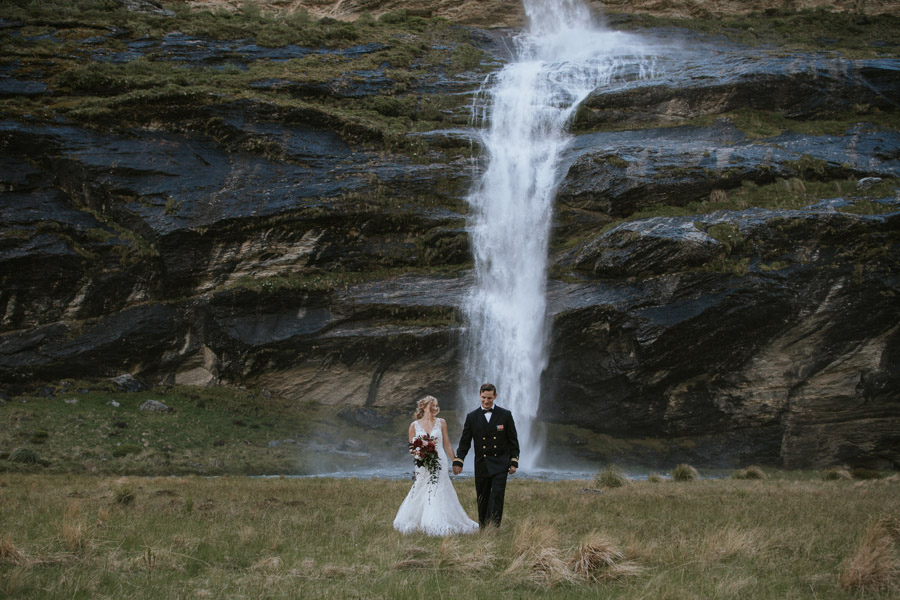 Walks and waterfalls on your elopment wedding day