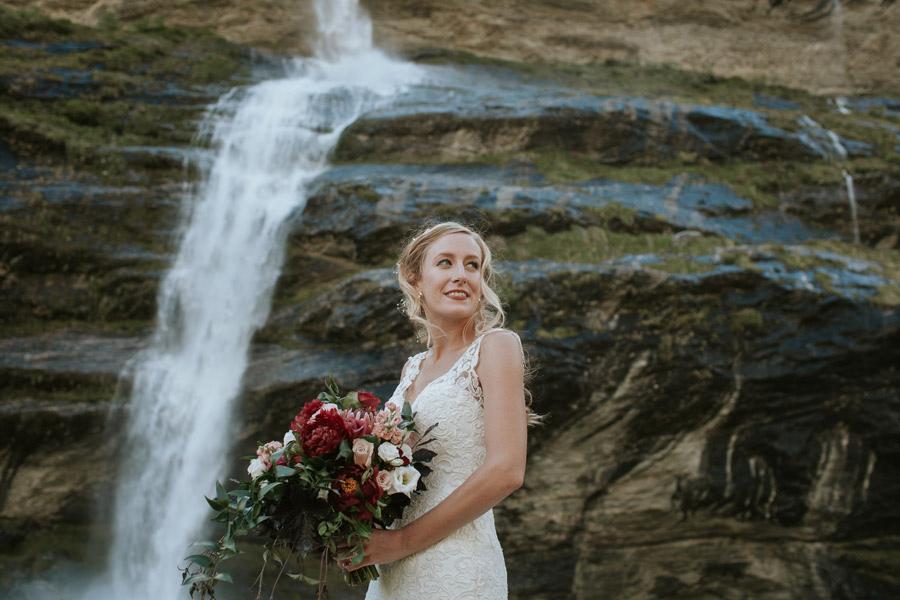 Stunning and elegant bride on her elopment wedding