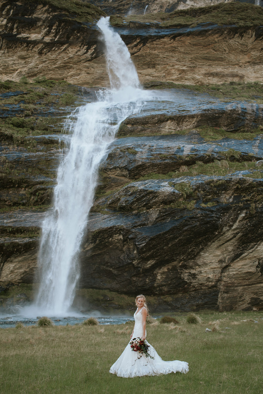 Brides go chasing waterfalls