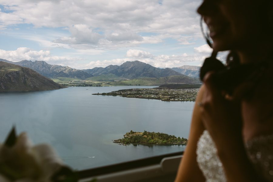 The only way to see Lake Wanaka is by helicopter!! Alice is here at her Wanaka wedding, heading off for some location photos by Alpine Image Company