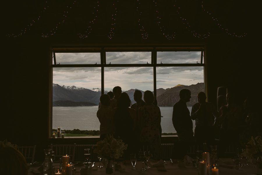 Rippon Hall makes for a stunning wedding venue with it's outlook over Lake Wanaka with photography by Alpine Image Company