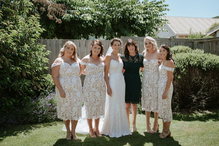 All the bridal party ready to go
