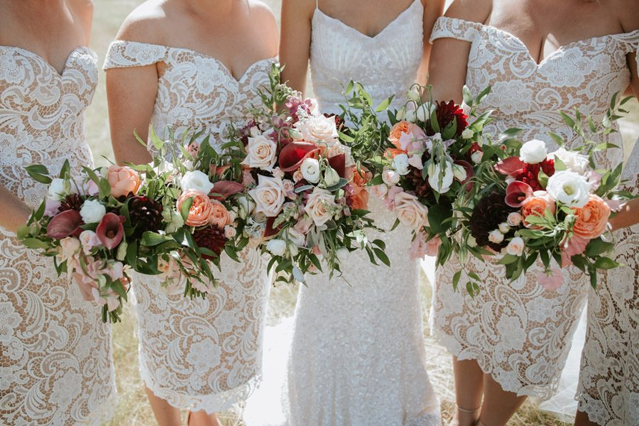 Colour pop on your wedding flowers