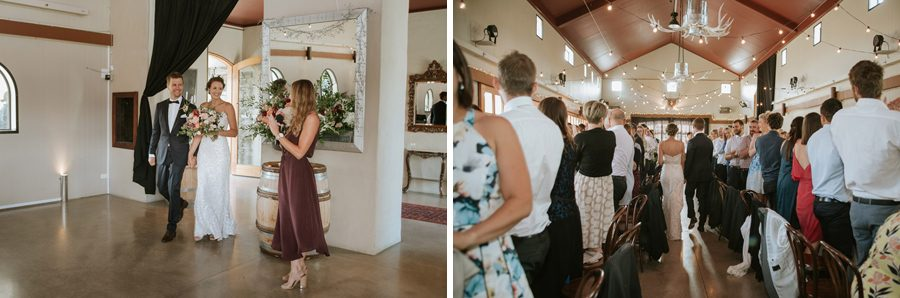 A lovely couples big entrance