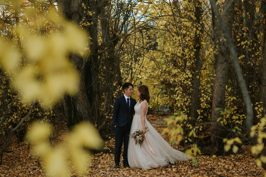 Autumn forest beauty with Eric and Jamie on their Autumn wedding day here in Wanaka