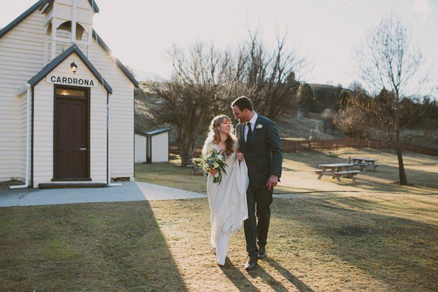A stunning shot of Tuesday and Donald's wedding at Cardrona, New Zealand. A beautiful wedding photo taken by Wanaka wedding photographers Alpine Image Company.