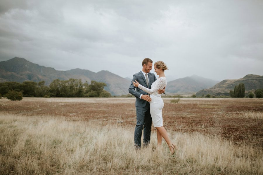 Elisabeth and Jake at their Wanaka elopement wedding on Mount Roy and in West Wanaka. Such gorgeous Wanaka wedding photography by Alpine Image Company.