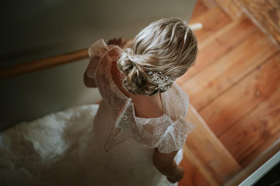 The bride getting ready and on her way to her Lake Ohau wedding captured by Wanaka wedding photographers Alpine Image Company.