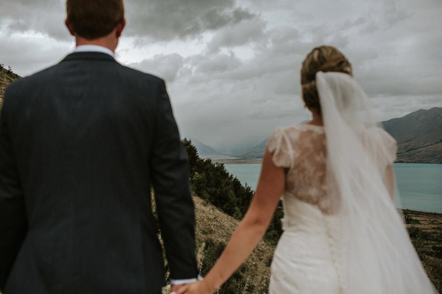 A beautiful photo from Rebecca and Matt's Lake Ohau wedding captured by Wanaka wedding photographers Alpine Image Company.