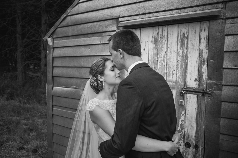 A beautiful moment for the Bride and Groom captured by Lake Ohau wedding photographers Alpine Image Company.
