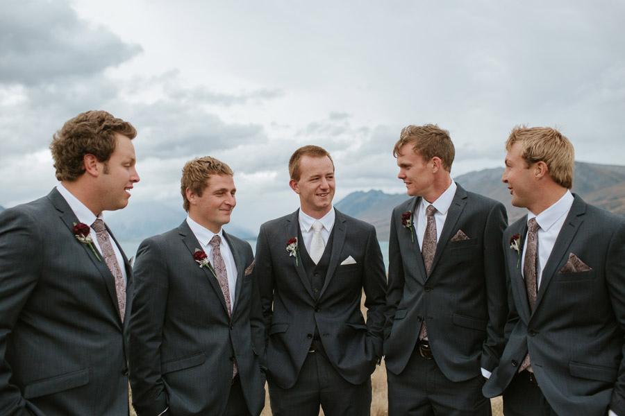 The boys enjoying the day from Rebecca and Matt's Lake Ohau destination wedding captured by Wanaka wedding photographers Alpine Image Company.