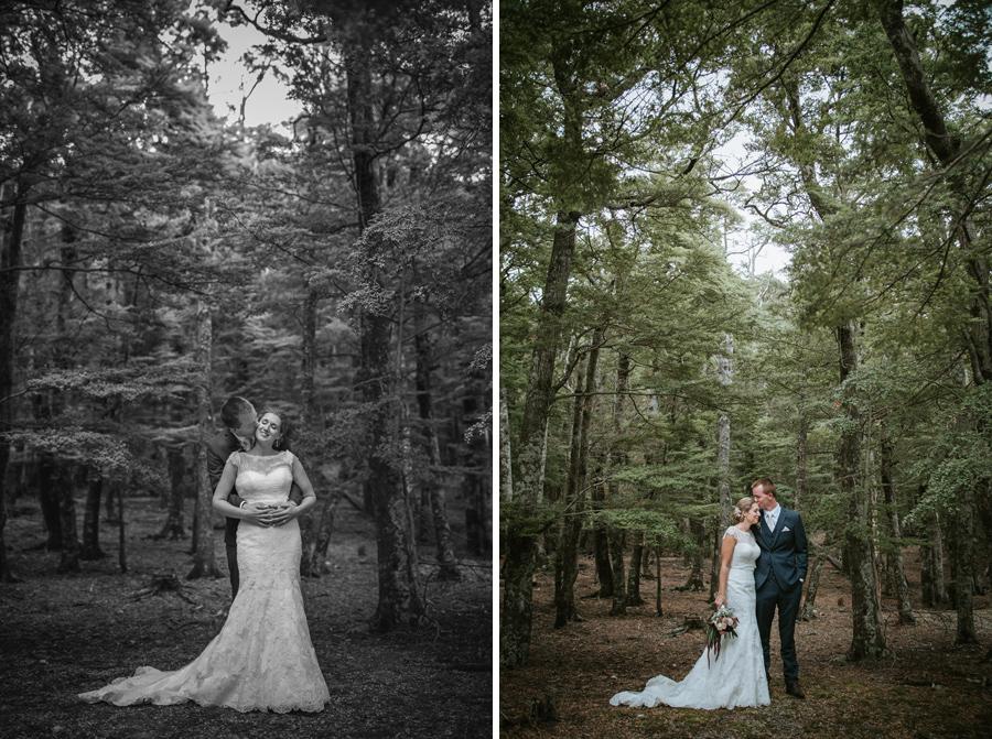 Beautiful wedding photography captured by Lake Ohau wedding photographers Alpine Image Company.