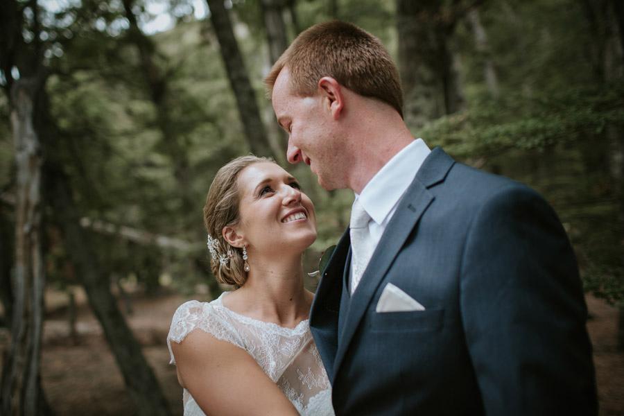 A gorgeous and romantic moment from Rebecca and Matt's Lake Ohau destination wedding captured by Wanaka wedding photographers Alpine Image Company.