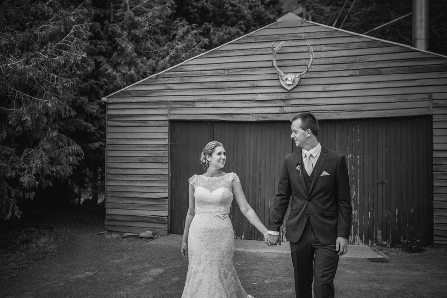 A stunning wedding photo by Wanaka wedding photographers Alpine Image Company from this Lake Ohau wedding.