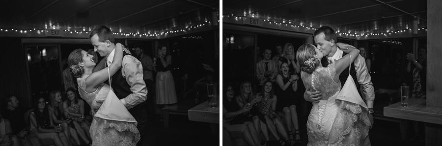 Wedding dance moments captured at Rebecca and Matt's Lake Ohau wedding by Wanaka wedding photographers Alpine Image Company.
