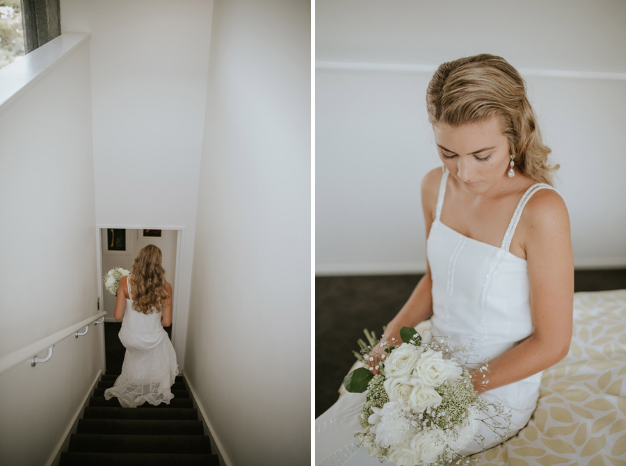 Our gorgeous bride Kelsey on her wedding day in Luggate/Wanaka, New Zealand. Wedding photography by Alpine Image Company.