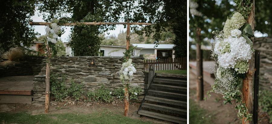 Gorgeous wedding ceremony details from Kelsey and Matt's Wanaka summer wedding captured by Wanaka wedding photographer's Alpine Image Company.