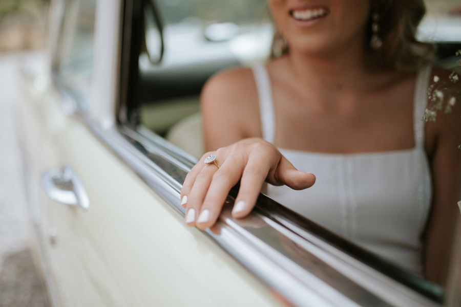 A beautiful wedding ring image from Kelsey and Matt's Luggate wedding captured by Wanaka wedding photographers Alpine Image Company.