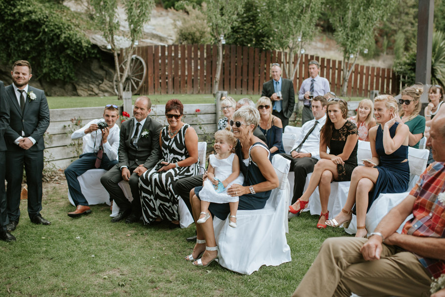 Ceremony guest moments from Kelsey and Matt's Wanaka wedding photographed by Wanaka wedding photographers Alpine Image Company.