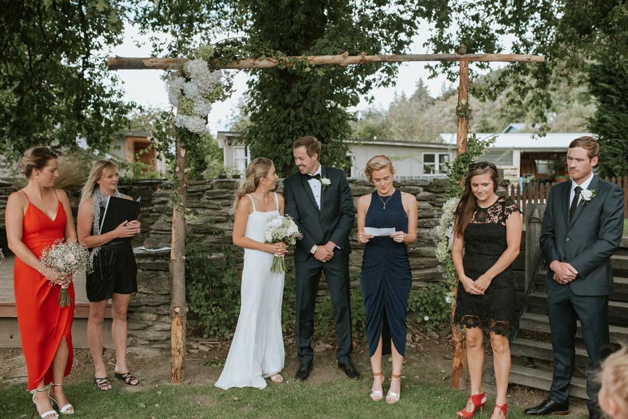 Gorgeous wedding ceremony image by Wanaka wedding photographer Alpine Image Company.