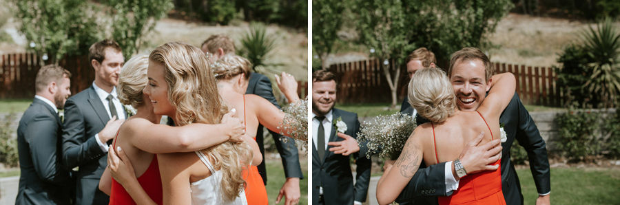 Happy guests and celebrations from Kelsey and Matt's gorgeous summer wedding in Wanaka, New Zealand captured by Wanaka wedding photographers Alpine Image Company.