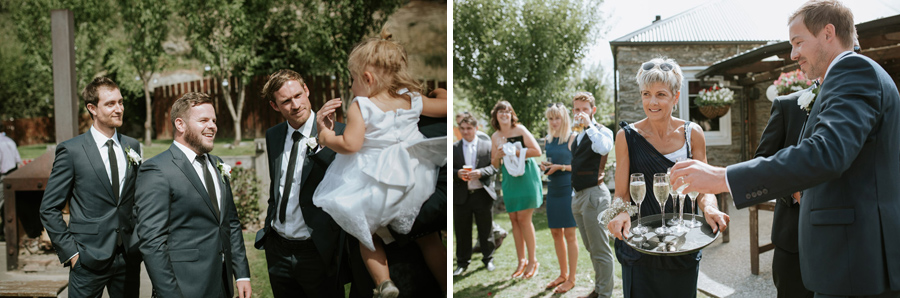 Happy family and friends at Kelsey and Matt's gorgeous Wanaka wedding photographed by Wanaka wedding photographer Alpine Image Company.