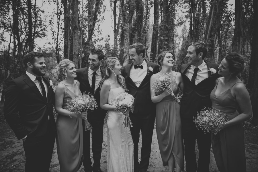 Bridal party moments from the wedding day in Wanaka, New Zealand captured by destination wedding photographers Alpine Image Company.